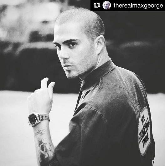 Spotted again!  The Wanted 's Hunk  Max George  wearing a jacket by our American designer  Yero Brown . Fashion Provided by  #IvanBittonStyleHouse
