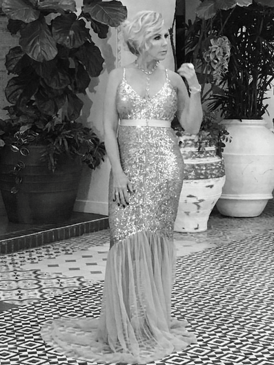 Behind the scenes with America's favorite Reality tv royalty  Vicki Gunvalson  for the cover of  Amaré Magazine . The original and still standing  Real Housewives of Orange County  cast member is wearing a dress by our German designer  Anya Liesnik , jewelry by our American designer  Sambac Jewelry , a belt by our French designer  Elise Anderegg  and a necklace by our French designer  Amalia Mattaör . Styled By  #TeamBitton   Horacio Aguilar  and @sarah li  Fashion Provided By  #IvanBittonStyleHouse