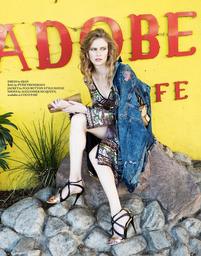 Off the press editorial featuring our American designer  Yero Brown 's denim jacket and our Brazialian designer  RosaTolenttino .  styled by  Mark Oberlin  Fashion Provided by  #IvanBittonStyleHouse