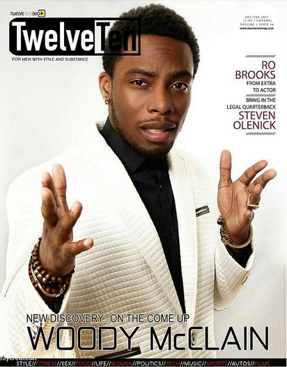 COVER MOMENT! @twelvetenmagazine cover with Actor  Woody The Great , the star of the most anticipated movie 'Whitney Houston'.  Woody is wearing a jacket from our American designer  Barabas Men . Styled by @Otheezy   Fashion Provided By  #IvanBittonStyleHouse