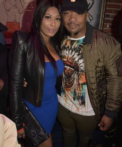 Spotted! Superstar  Timbaland  and  VH1  star  Althea Heart  from  Love and Hip Hop  wearing a jacket from our French/American designer and current  Project Runway  contestant  Laurence Basse .  Styled by @freshprinceola  Fashion Provided By  #IvanBittonStyleHouse