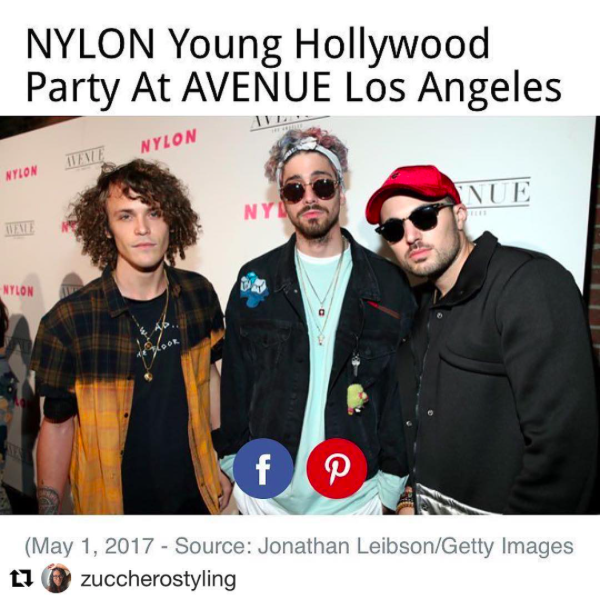 Dj band  @cheatcodesmusic  looking amazing at the  @nylonmag  red carpet wearing our designers ✨ #jacket  made by  @cukovy  #hat  made by  @hater_snapback  styled by  @zuccherostyling  fashion provided by  #ivanbittonstylehouse