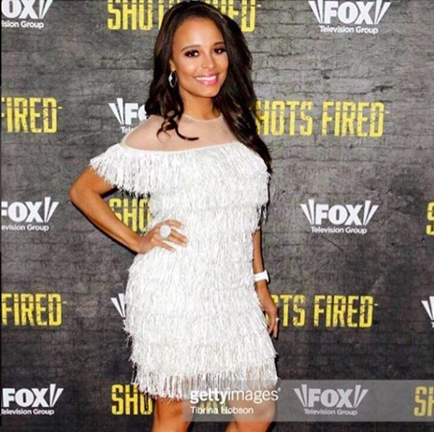 Grammy nominated and  @foxtv star from hit show  @shotsfiredfox  @antoniquesmith is looking beyond amazing in a dress by our Canadian designer  @_narces and jewelry by our American designer  @sambacjewelry at the red carpet of her show premiere in Hollywood styled by  @shatora.adrell Fashion Provided by  #ivanbittonstylehouse
