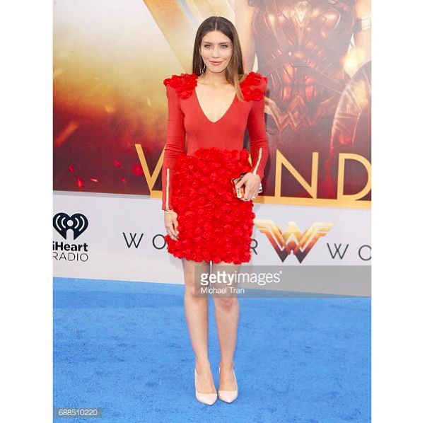 Actress from series  @amcthewalkingdead   @julianaharkavy looks dashing at the  @wonderwomanfilm  #worldwide  blue carpet wearing our designers ✨ #dress  made by our designer from Germany 🇩🇪  @marcellvonberlin  #jewelry  mad eby our American designer  @sambacjewelry  styled by  @styledbylmc fashion provided by  #ivanbittonstylehouse  #ootd  #celebritystyle  #fashionstylist  #fashiondesigner #