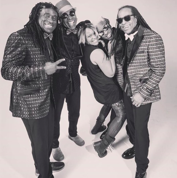 #bts with legendary American band  @livingcolourofficial and our very own  #teambitton  @leisastylediva for a music video featuring clothes from our designer  @barabas_men Fashion Provided by  #ivanbittonstylehouse