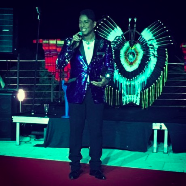 Breaking News! American superstar  @officialjermainejackson performing a tribute for his brother  @michaeljackson in the south of France wearing a jacket by our Designer  @barabas_men styled by  #teambitton  @leisastylediva Fashion Provided by  #ivanbittonstylehouse