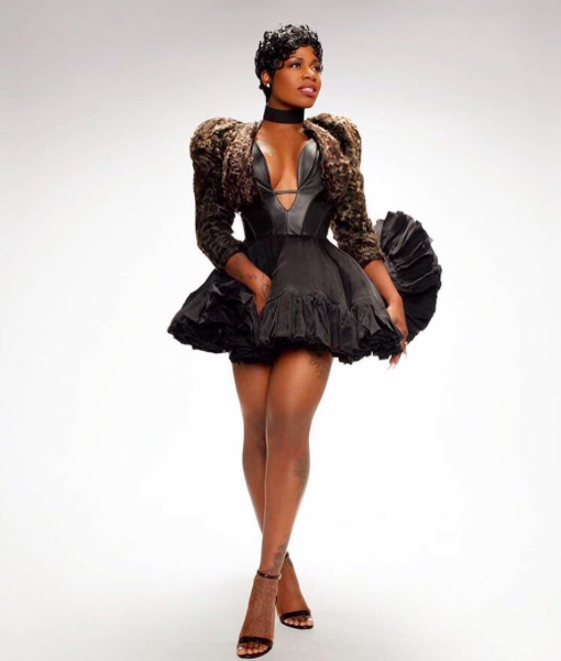American powerhouse superstar  @tasiasword giving us Flawless with a jacket by our designer from Hungary  #napsugar Styled by  @1800dhawk Fashion Provided by  #ivanbittonstylehouse