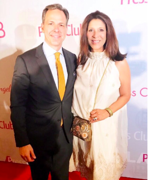 @foxla newscaster extraordinaire  @devinenews out with  @cnn star  @jaketapper wearing jewelry by our American designer  @sambacjewelry , a dress by our German designer  @feliceartcouture and a clutch by our Italian designer  @ottavianiofficial styled by  #teambitton  @leisastylediva Fashion Provided by  #ivanbittonstylehouse