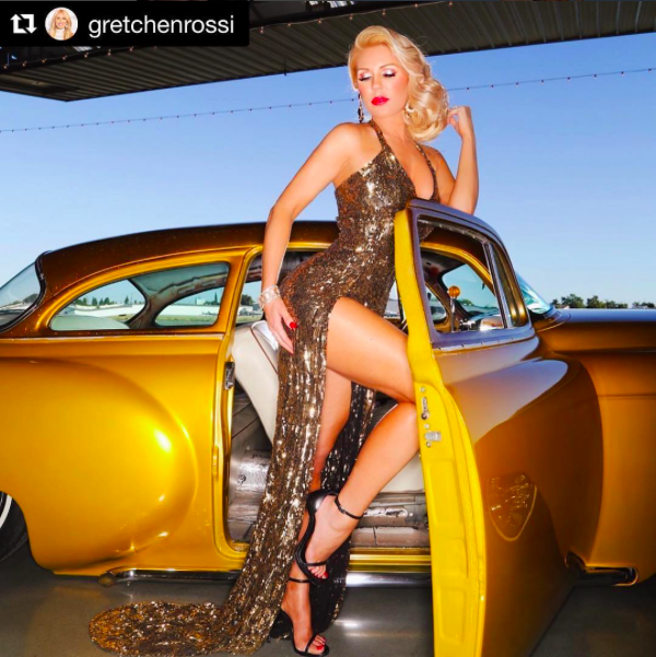 Stunning! Star ⭐️ from  @bravotv  @gretchenrossi wearing our designer  @anyaliesnik while posing for an amazing set created by the talented team of  @amaremagazine styled by  #teambitton  @leisastylediva fashion provided by  #ivanbittonstylehouse  #ootd  #bravo  #rhoc  #celebrity  #amare  #fashiondesigner  #glamour