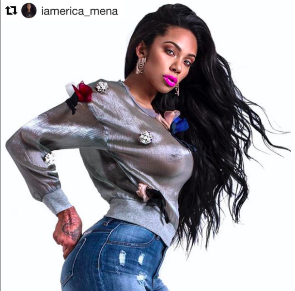 Tv star ⭐️ @iamerica_mena wearing our designers ✨ #earrings made by our American designer  @sambacjewelry styled by  @joshuaomarjohnson fashion provided by  #ivanbittonstylehouse  #ootd  #celebrity  #fashiondesigner  #glamour  #tv  #style  #magazine  #tv