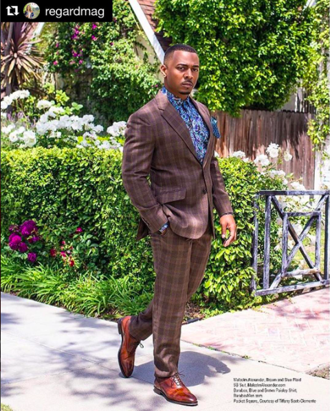 Actor from tv show  #survivorsremorse   @doublerlee  looking super handsome for the pages of  @regardmag  wearing our designers ✨ #shirt  made by  @barabas_men  suit made by  @malcolmalexanderofficial  styled by  @tgatiffanystylist  fashion provided by  #ivanbittonstylehouse  #ootd  #glamour  #fashiondesigner  #shirt  #actor  #editorial  #survivorsremorse  #tvshow