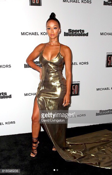 Actress and digital super star ⭐️  @drayamichele  stunned the  @sportsillustrated  red carpet wearing our designers ✨ gown made by our celebrity designer from Germany 🇩🇪  @anyaliesnik styled by  @hollylarry_  fashion provided by  #ivanbittonstylehouse  #ootd  #style  #sportsillustrated  #celebrity  #digital  #fashiondesigner  #influencer