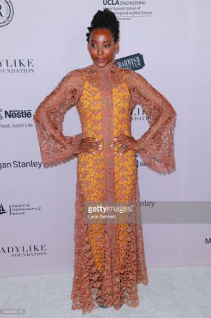 @bet hit show  @realhusbands actress  @theericaash at the women's excellence award red carpet wearing a cape by our designer from Dubai  @shefali_couture style by  @tgatiffanystylist fashion provided by  #ivanbittonstylehouse  #ootd  #style  #celebrity  #redcarpet  #fashiondesigner