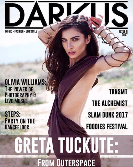 @darkusmagazine new cover with gorgeous silicone sleeves by our designer  @danrichters photographed by  @tuckutegreta Fashion Provided by  #ivanbittonstylehouse