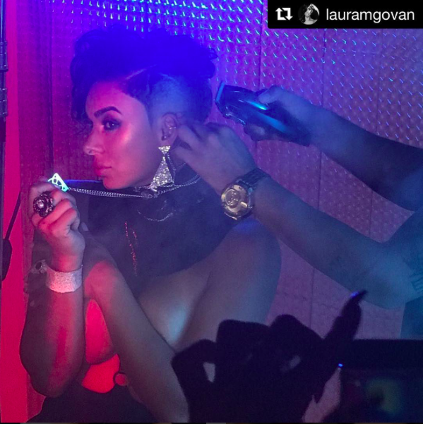 Behind the scenes from  @vh1 Tv star ⭐️ @lauramgovan looks super fierce wearing our designers ✨ @sambacjewelry  @bangslove  @bgrdesigns  @maukevjewelry styled by  #teambitton  @aarongomezp  @faithnmyfashion for a fashion editorial Done by  @michaelvincentacademy fashion provided by  #ivanbittonstylehouse special thanks to  @talbvincent ❤️ #ootd  #fashiondesigner  #celebrity  #style  #CD  #production