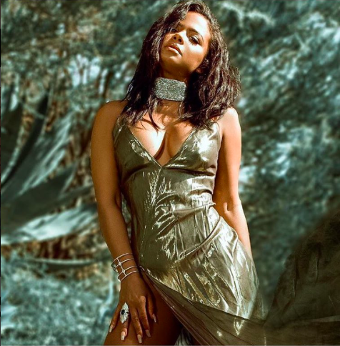 Behind the scenes with American superstar  @christinamilian for an undisclosed project wearing our German designer dress  @anyaliesnik , a ring by our American designer  @sambacjewelry , a chocker by our German designer  @feliceartcouture Styled by  @ejking21 Fashions provided by  #ivanbittonstylehouse