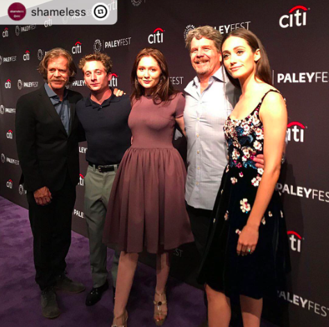 Spotted! @netflix star  @emmarosekenney from the  #1 Hit tv show  @shameless gracing the  #paleyfest red carpet for the premier of show with her impressive castmates  @emmyrossum  @williamhmacy  @jeremyallenwhite1 Emma is wearing our designers  @marcellvonberlin  @egidio_alves_luxury_shoes styled by  @michaelstmichael Fashion provided by  #ivanbittonstylehouse celebrities #style  #ootd  #redcarpet  #shameless  #tvshow  #hollywood