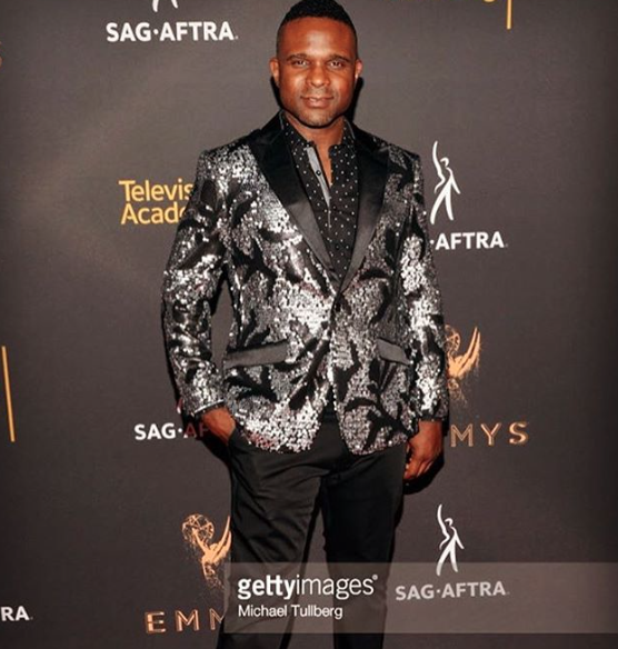 Spotted at the Emmys 2017 ! Actor  @dariusmccrary wearing our designer  @barabas_men Fashion provided by  #ivanbittonstylehouse