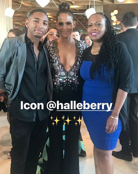 Spotted!   @halleberry Co-star  @whokr  from the anticipated movie  #kings  while in Canada wearing our designers ✨  @barabas_men