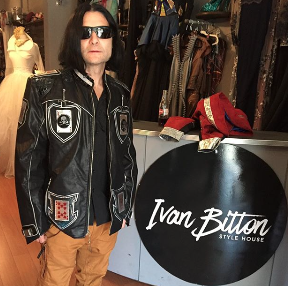 Iconic  @coreyfeldman  in the House!! Wearing a jacket by our designer  @kaptainofhollywood for his upcoming tour Styled by  #teambitton Fashion provided by  #ivanbittonstylehouse