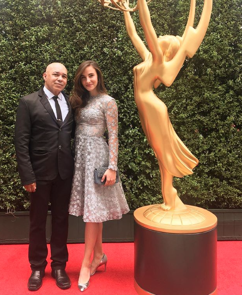 Emmys glam with winner actor from hot tv show  @shameless  @iameddieperez and lovely date actress  @katherine_cronyn slaying the red carpet wearing our designers  @_narces  @barabas_men  @ottavianiofficial  @sambacjewelry  @limit.till.2359  @luvmyjewelry styled by  #teambitton