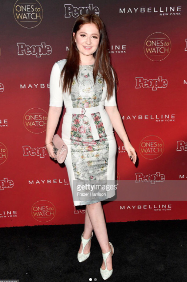 @netflix star from  #1 hit tv show  @shameless the gorgeous  @emmarosekenney looks amazing at the  @people 's the one to watch ' red carpet wearing our designers✨ shoes from Japan  @limit.till.2359 styled by  @michaelstmichael fashion provided by  #ivanbittonstylehouse
