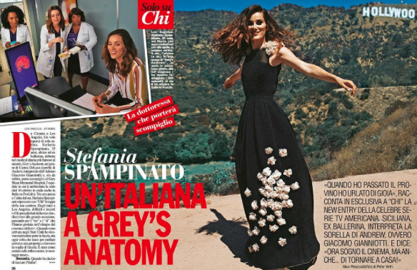 @abcnetwork  star  @spampinato.stefania  from hit tv show  @greysabc  'Grey's anatomy' talks to Italian  #chimagazine  about her hollywood career wearing our designers  #dress  made by our German designer  @marcellvonberlin  styled by  @orettac  Fashion provided by  #ivanbittonstylehouse