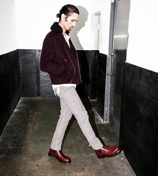 American pop star  @tysonritter  from the band  @therejects looks super good x the newest issue of  @prunemagazine  wearing our British designers shoes Doctor Marten  @drmartensofficial  styled by  @michaelstmichael  fashion provided by  #ivanbittonstylehouse