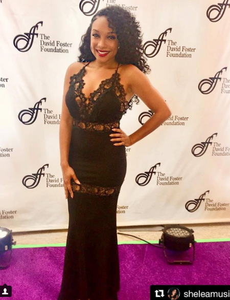 Glamorous time at the  @davidfoster foundation red carpet with singer  @sheleamusic wearing our designers ✨ dress made by  @nicolebakti styled by  #teambitton  @aarongomezp fashion provided by  #ivanbittonstylehouse  #fashiondesigner  #singer  #celebrity  #press  #looks  #magazine  #fashion