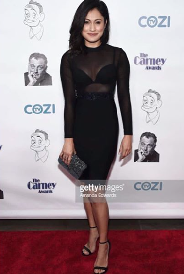 Chic time at the Carney awards with  @crimmindscbs and  @greysabc Actres  @pilarholland looking incredible wearing our designers  #clutch made by our Italian designer  @ottavianiofficial styled by  @melissasouzastyles fashion provided by  #ivanbittonstylehouse  #fashiondesigner  #styled  #style  #celebriry  #magazine