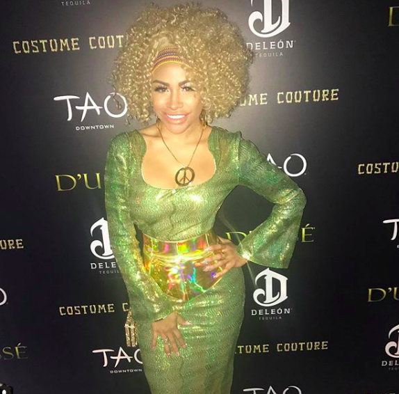 Spotted at the Tao Halloween red carpet singer  @charissemills wearing our designers ! @shefali_couture styled by  #teambitton  @styledbyyvonne fashion provided by  #ivanbittonstylehouse  #fashiondesigners  #celebrity
