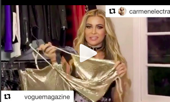 It was such a pleasure working with the gorgeous  @carmenelectra setting up her closets for  @vogue featuring our jewelry designers from Africa @jardin_secret_madagascar from Israel @shenhavrusso