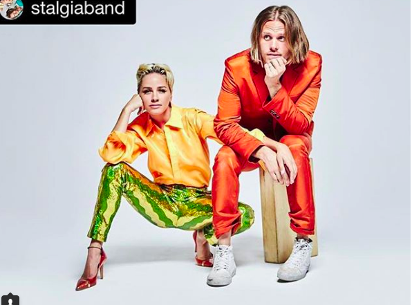 Album Cover alert!! 🎼 American band  #stalgiaband  wearing our designers  @shefali_couture   @limit.till.2359  @barabasmen  styled by  @stinaa.marie fashion provided by  #ivanbittonstylehouse  #fashiondesigners  #musicband