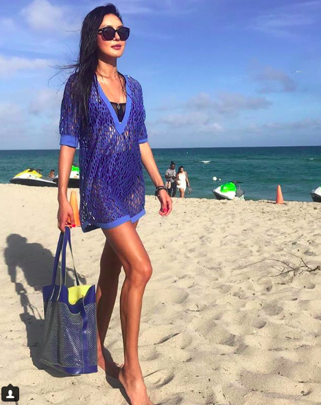 #bts of fashion editorial shot with table tennis world champion and tv star  @pingponggirl wearing our designers  @shanswimwear and a bag by our designer  @alexandradecurtis styled by #teambitton  @maebedaillest fashion provided by  #ivanbittonstylehouse  #fashiondesigner  #celebrity  #magazine  #artbasel