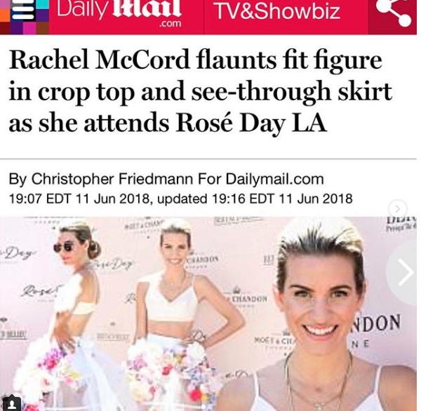 Spotted! The lovely Hollywood socialite and Tv Host  @iamrachelmccord  at the  @moetchandon rose national day wearing a skirt and a top by our California designer  @anee_official Styled by  #teambitton   @tori_jeannine_xoxo Fashion provided by  #ivanbittonstylehouse