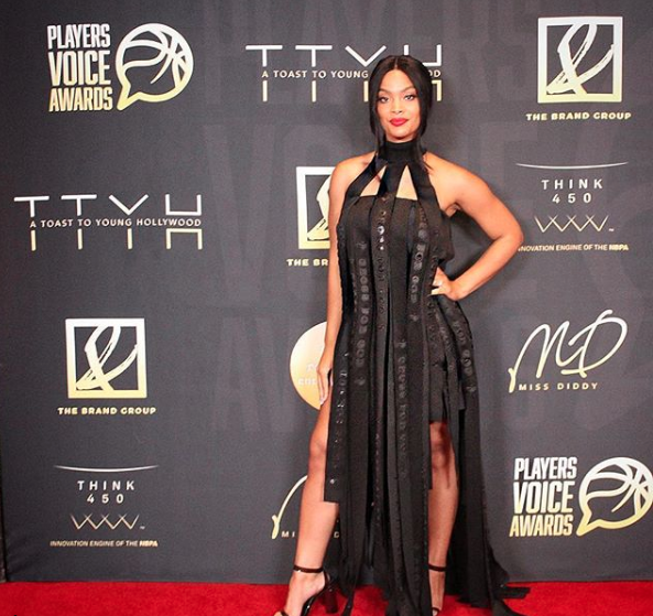 @vh1  star from hit tv show  @basketballwives   @_mehganj  looking amazing at the  #playersvoiceawards wearing our designer  @crossforgod  styled by  #nikko  fashion provided by  #ivanbittonstylehouse  #style  #fashion  #fashiondesigner  #celebrity