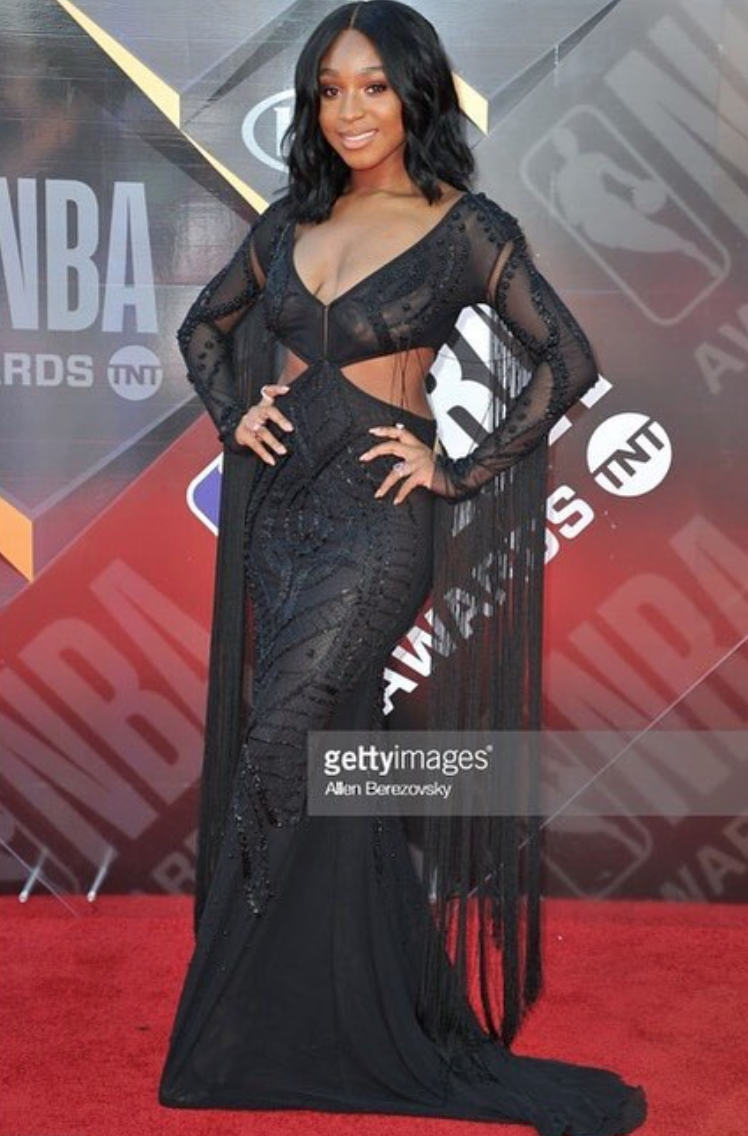 American superstar  @normani  from music group sensation  @fifthharmony  strikes the  @nba  awards red carpet wearing our designer  @aelkemi_inc managed by  @a.us_official  styled by  @icontips  fashion provided by  #ivanbittonstylehouse  #fashion  #fashiondesigner  #celebrity  #normanikordei