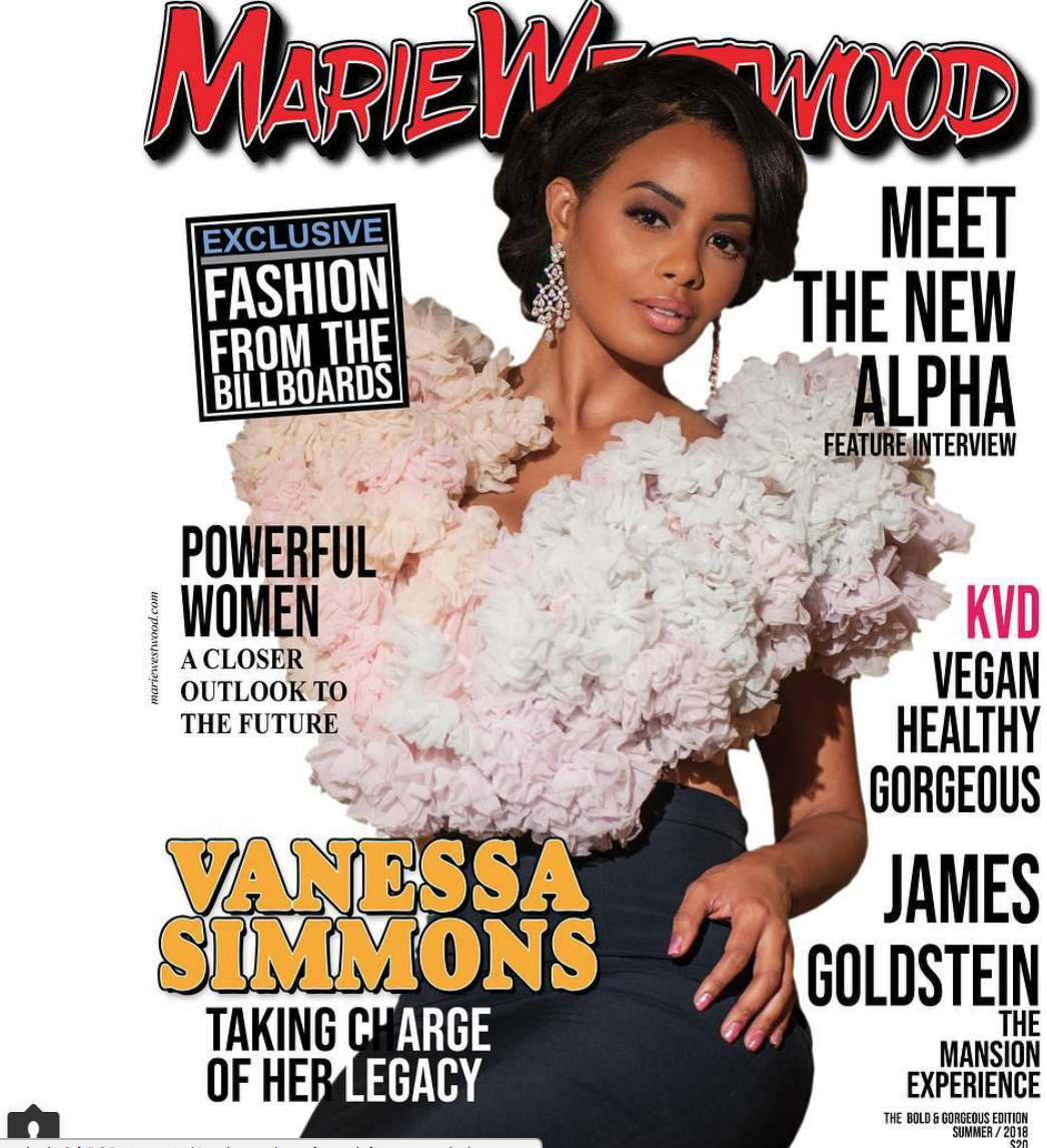 Hip hop royalty and  @vh1  star  @vanessajsimmons  strikes the cover of celebrity magazine  @mariewestwoodmag  wearing our designers  @sambacjewelry   @novoselsavic styled by  #teambitton   @ivanbitton  produced by  @aarongomezp  fashion provided by  #ivanbittonstylehouse  #fashionblogger  #celebrity  #style  #magazine