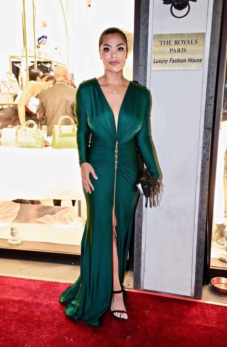 @vh1  star  @_mehganj  from hit show  @basketballwives  looking stunning wearing our designers  @evamejl  for the  #mariewestwood  magazine release party fashion and style provided by  #ivanbittonstylehouse
