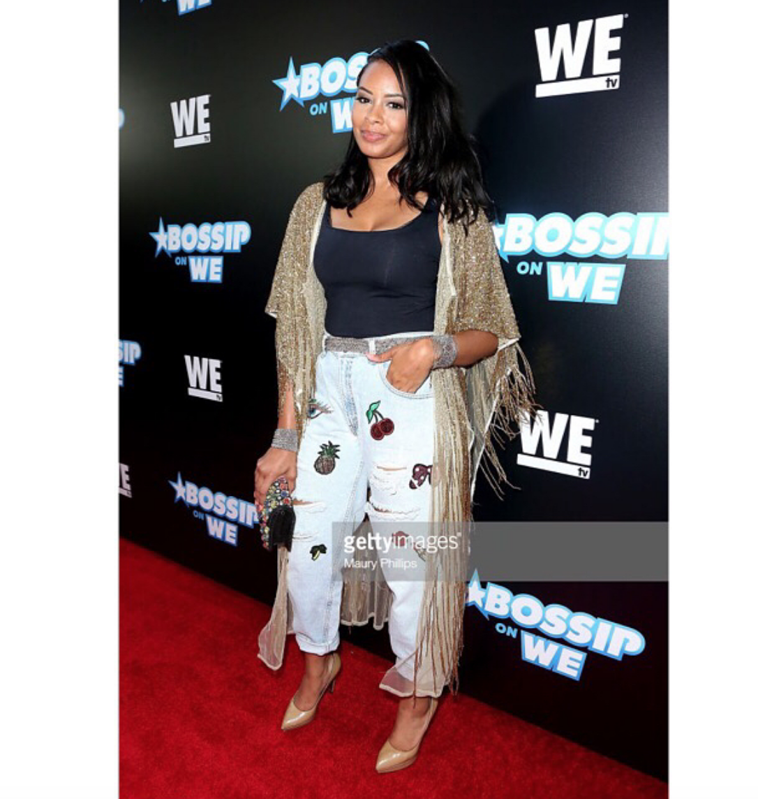 "Dazzle in glam! hip hop royalty and  @wetv  star from hit tv show  @growinguphiphop  @vanessajsimmons  strikes the ""best dressed"" list for the  @bossip_wetv  red carpet wearing our designers  #star  @metamorfusnow   @liquidmetalcollection  @ottavianiofficial   @rougebyroojamir fashion and style provided by  #ivanbittonstylehouse"