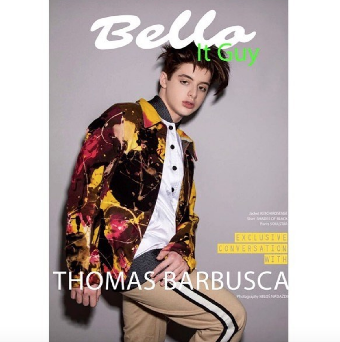 Yes ! Cover for  @bellomag  featuring  @foxtv  star from hit show  @themickfox   @thomasbarbusca wearing our designer from Japan  @keiichirosense  styled by  @stylebyisaiah fashion provided by  #ivanbittonstylehouse