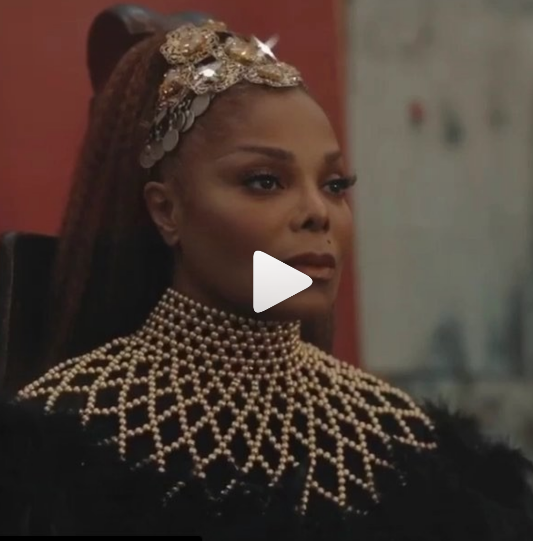 The absolute queen  @janetjackson  new parody video is out now !  #MadeForNow  With  @daddyyankee remade by  @Youtube  superstar  @blameitonkway  . Janet is wearing a gorgeous neck piece by our African designer from Ghana  @aphiasakyi (managed by  @elenanazaroff  ) Styled by  @otheezystyledit  fashion provided by  #ivanbittonstylehouse