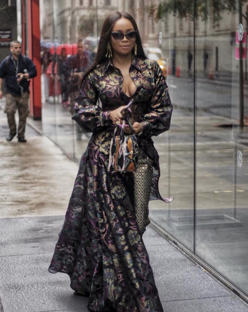 Spotted at NY fashion week! International TV star  @bonang_m  wearing our designer from Israel  @shenhavplanet  Styled by  @iamhdiddy  assisted by  @dutchtheomen  . Fashion provided by  @ivanbittonstylehouse