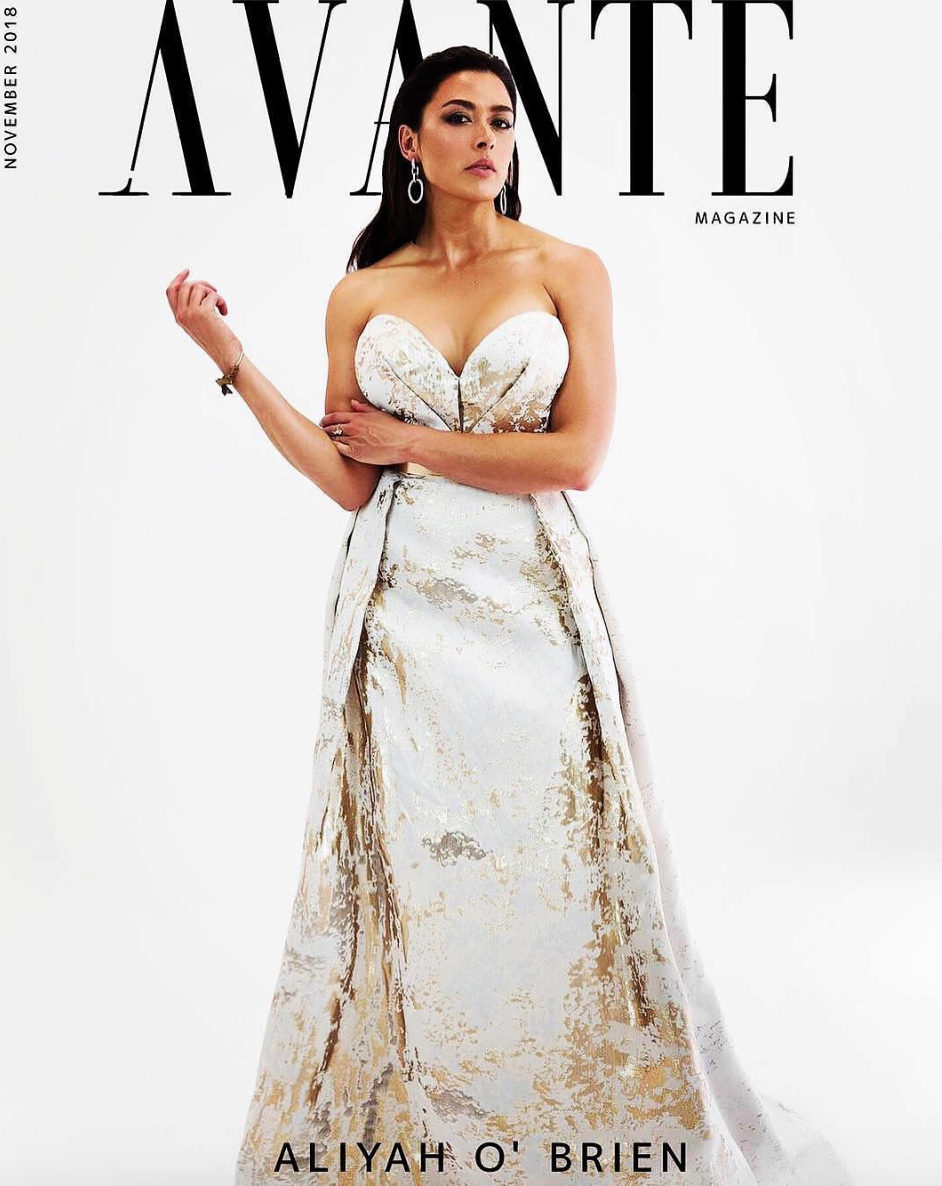 @abcnetwork  star  @aliyahobrien  looking super glamorous for the cover of  @avante_magazine  wearing our designer from Paris  @hayariparis styled by  @carnitanicole  fashion provided by  #ivanbittonstylehouse