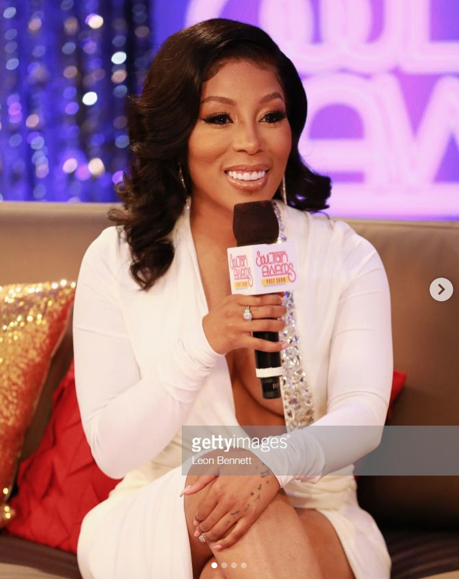 American singing sensation  @kmichellemusic  hosting the  @soultrainofficial  wearing our fabulous designer  @sambacjewelry  styled by  @icontips  fashion provided by  #ivanbittonstylehouse