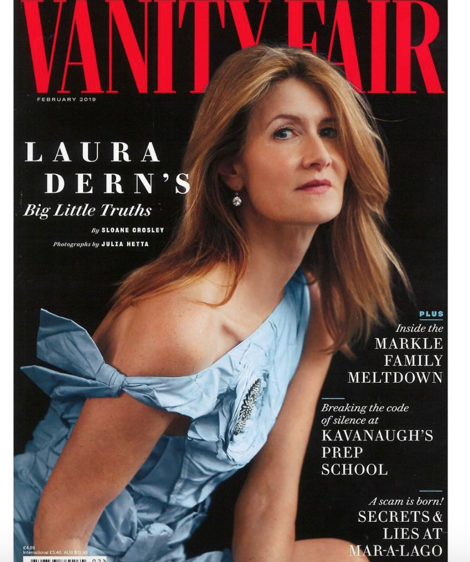 Don't miss out the latest edition for  @vanityfair  with  @lauradern  featuring our fashion designer  @nadjarina   @jessebelleboutique  @lehwiy_jewellry  styled by  #teambitton  @aarongomezp  assisted by  @kiara.hatcher fashion provided by  #ivanbittonstylehouse