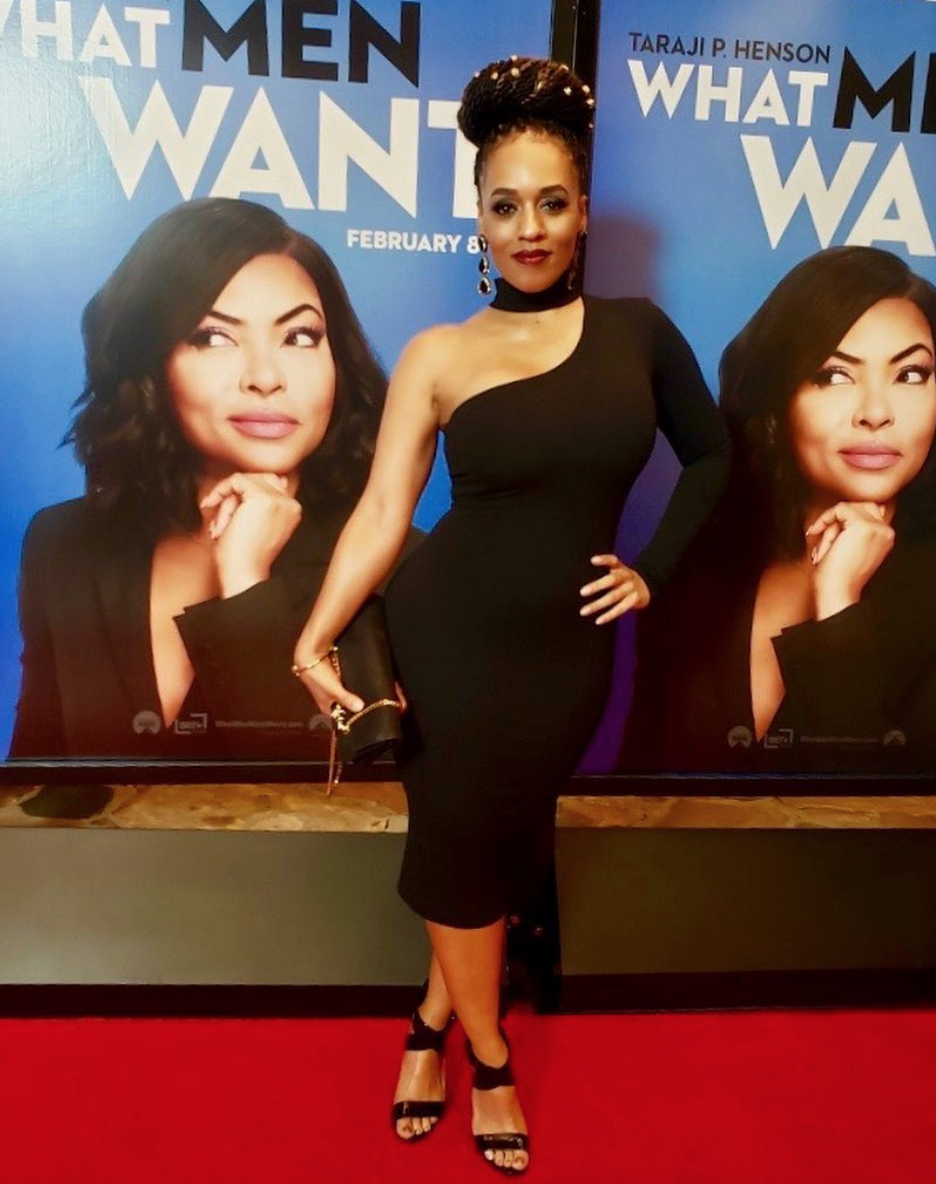 We love how beautiful  @bravotv  tv star  @melyssaford it's looking for the premier of  @whatmenwant  starring  @tarajiphenson wearing our designers !  @halebob_official  @rougebyroojamir  fashion and style provided by  #ivanbittonstylehouse