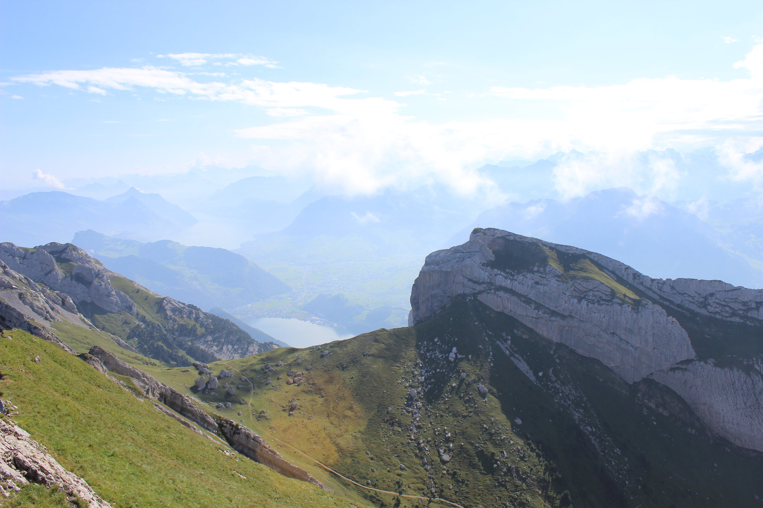 View from atop Mt. Pilatus on the Golden Tour
