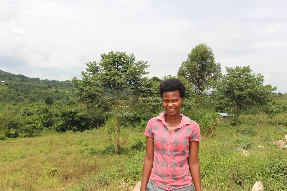 Mbazzi Riverside School's new teacher, Edith.
