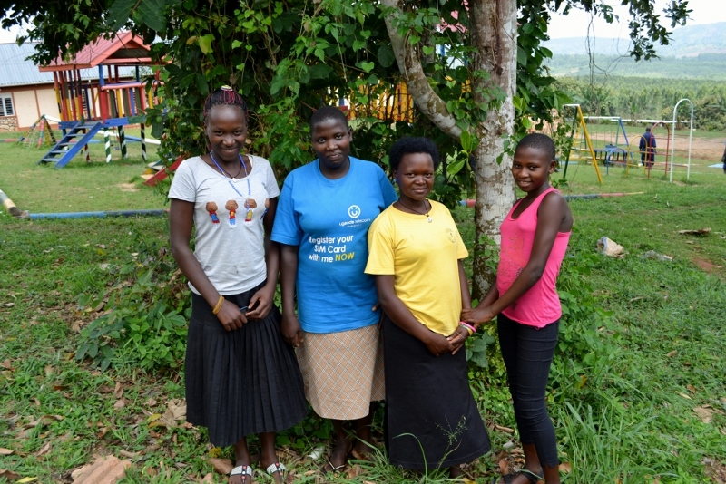Florence, Max, Flavia and Juliet during their first week of vocational training (our fifth member, Phionah, was absent on the day the photo was taken).